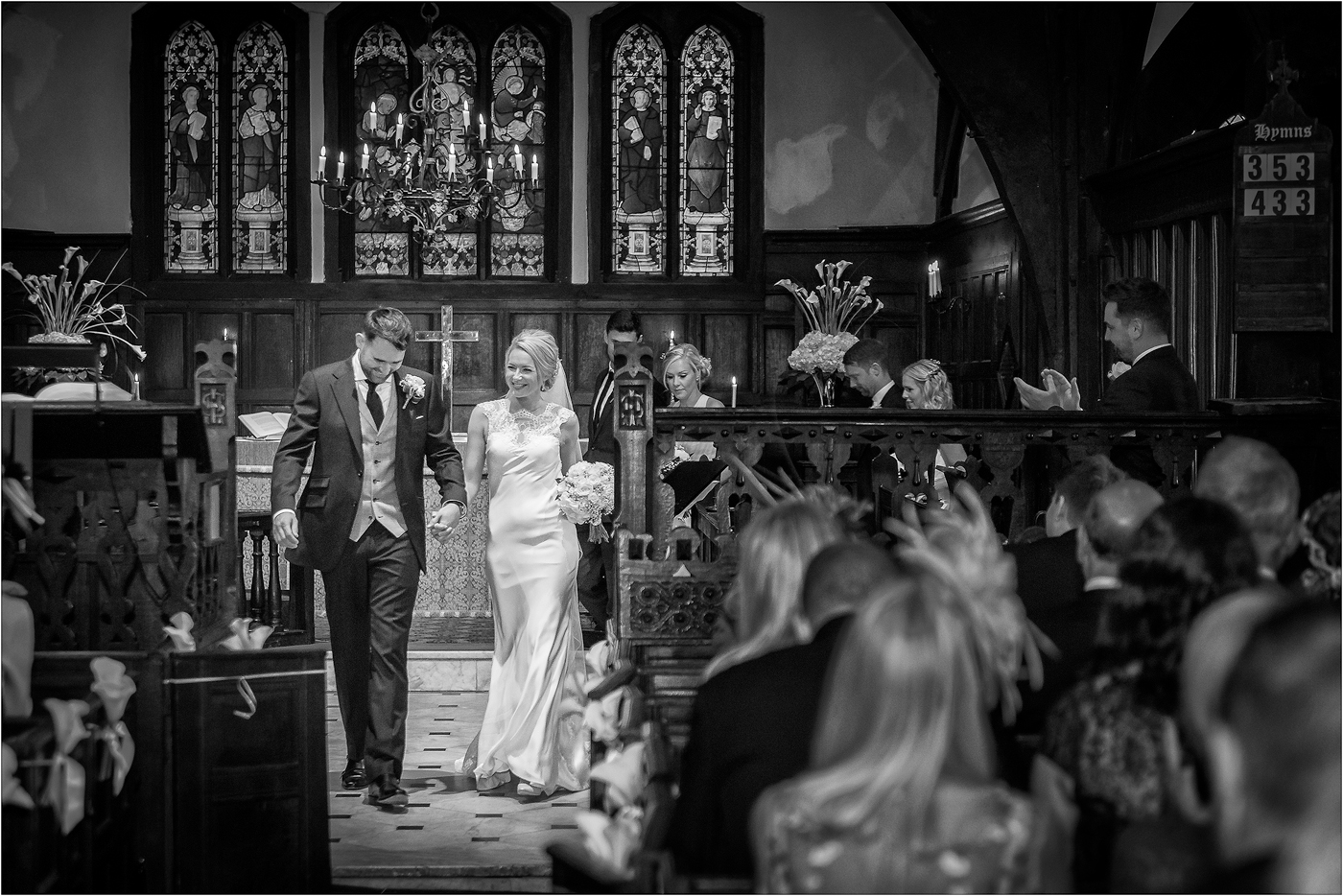 Mr Mrs at St Oswalds Church Cheshire