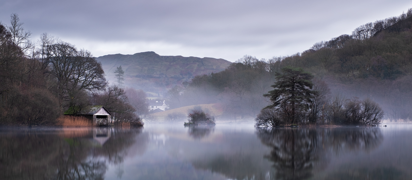 Foggy evening on Rydal Water