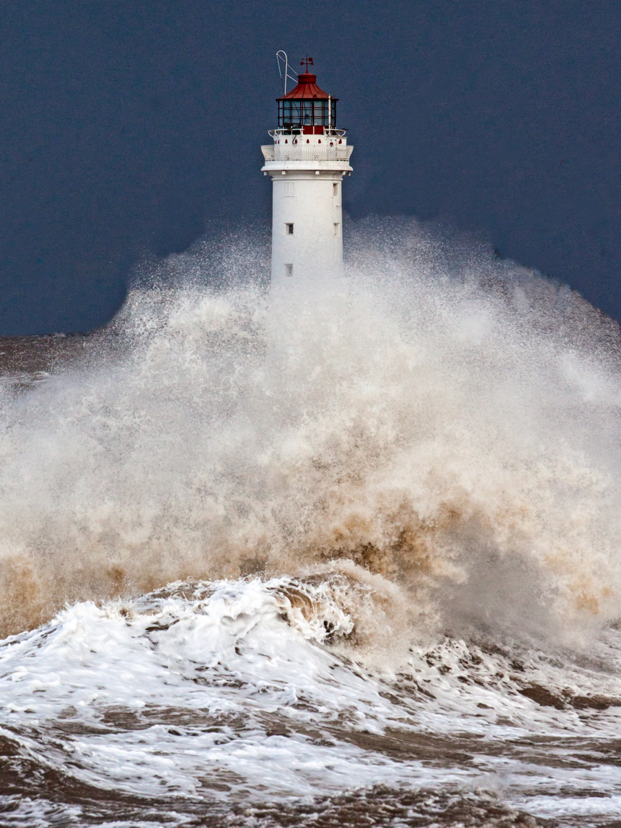 Richard Towell Storm Waves at Perch Rock